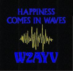 HAM RADIO Shirt Custom EMBROIDERED with  Waves by tshirtlady2008