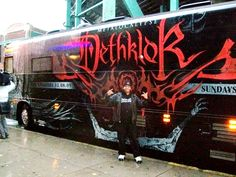 Me and the Dethklok Tour Bus - Boston 2009