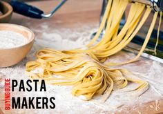 fresh pasta and pasta machine on kitchen table - stock photo Healthy Pasta Recipes, Healthy Pastas, Cooking Recipes, Alexander Herrmann, Colored Pasta, Ravioli Recipe, 00 Flour Pasta Recipe, Pepper Pasta, Pasta Machine