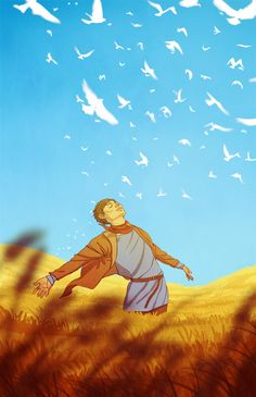 What if the white birds were clouds? And merlin was making them bird-shaped with magic?