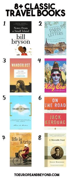 Whether you need an inspirational book to give you the little kick you need to book your trip, or if you have long bus rides ahead of you, this list of classic, must-read travel books will undoubtedly keep you entertained and motivated to explore the world. http://toeuropeandbeyond.com/26-classic-travel-books-you-should-have-in-your-collection/ #books #reading #travel