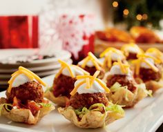 Tex Mex Meatball Nacho Bites #Recipe #HolidayEntertaining