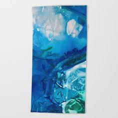 Deep Blue Ocean Life Beach Towel by @ANoelleJay | @Society6