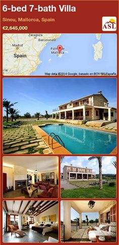 6-bed 7-bath Villa in Sineu, Mallorca, Spain ►€2,645,000 #PropertyForSaleInSpain
