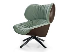 Swivel upholstered fabric armchair TABANO Tabano Collection by B