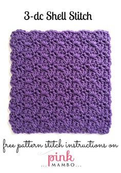 3 dc shell stitch pattern great for scarves