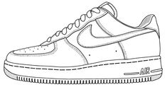 Nike Shoe Coloring Page   Ace Images