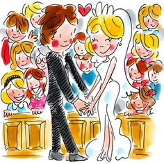 Kaart - Ja Ik Wil - Greetz Blond Amsterdam, Birthday Wishes, Birthday Cards, Tarjetas Diy, Cartoon Faces, Make Happy, E Cards, Girl Humor, Wedding Day