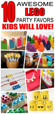 Great lego party favors kids will love. Fun and cool lego birthday party favor i., lego party favors kids will love. Fun and cool lego birthday party favor ideas for children. Easy goody bags, treat bags, gifts and more for boy. Lego Party Favors, Lego Themed Party, Lego Birthday Party, Birthday Crafts, Boy Birthday Parties, Party Gifts, Lego Parties, Diy Gifts, Lego Party Games