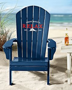 Tommy Bahama - Deluxe Navy Adirondack Chair