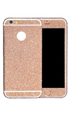 Get Noticed Rose Gold Glitter Sparkle iPhone Decal Sticker