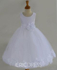 White Flower Girl dress bow sash pageant petals by ekidsbridalusa White Bridesmaid Dresses, White Flower Girl Dresses, Lace Flower Girls, Wedding Dresses, Ribbon Flower, Wedding Bridesmaids, White Dress, Pageant Dresses, Girls Dresses