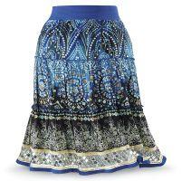 Azure Tiered Skirt