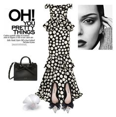 """""""Oh! You pretty things"""" by curlysuebabydoll ❤ liked on Polyvore featuring Johanna Ortiz, Miu Miu, blackandwhite, fashionset and polyvoreeditorial"""