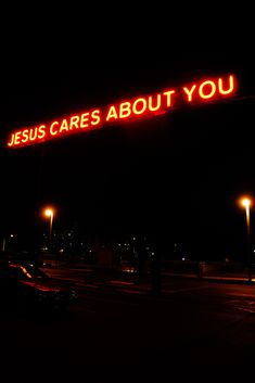 "I love how this ""Jesus Cares About You"" sign lights up in Tacoma, WA. It can be seen in parts of the city and even from the freeway!"