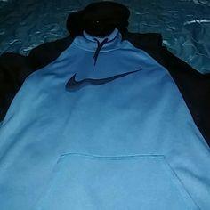 Clearance best price NWT Nike hoodie This a new turquoise and black sports hoodie Nike Tops Sweatshirts & Hoodies