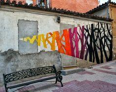 Street art in Salamanca, Spain by Pablo S. Herrero and E1000 #spain #pabloherrero #streetart jd
