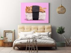 Sushi Cat Print By Paul Fuentes - Fy