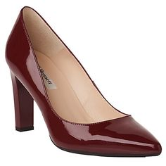 cee0d34a8ccb Buy L.K. Bennett Tess Block Heeled Court Shoes Online at johnlewis.com Red  Patent Leather
