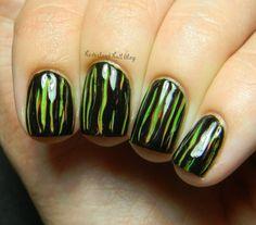 Neverland Nail Blog: Creepy Scratch Nail Art Tutorial!
