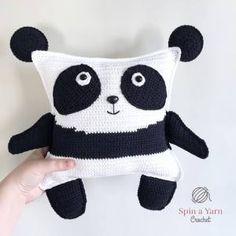 Pudgy Panda Plushie Free Crochet Pattern • Spin a Yarn Crochet - https://spinayarncrochet.com/pudgy-panda-plushie-free-crochet-pattern/