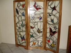 biombo de mariposas
