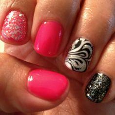 Fun nails with shellac