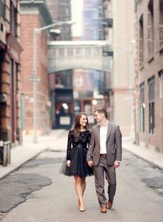 This engagement session from Rebecca Yale Photography, Inc. right here represents everything we love about NYC: http://www.stylemepretty.com/new-york-weddings/new-york-city/2013/12/20/new-york-city-engagement/