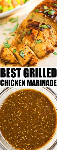 This quick and easy CHICKEN MARINADE recipe for the grill or oven is made with simple ingredients. This healthy chicken marinade makes very juicy chicken. From cakewhiz.com