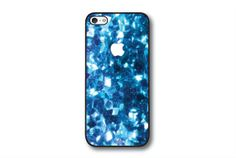 iPhone 4 Case, iPhone 4S Case - Cyan Square Glitter / iPhone 4S Case, iPhone 4S Cover, Cover for iPhone 4S, Case for iPhone 4S