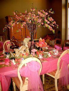 Design Dazzle: Fairy Tea Party love the flower tree centerpiece!