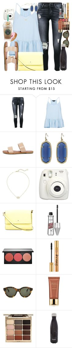 """""""New York: Day 4"""" by racheld24 ❤ liked on Polyvore featuring 7 For All Mankind, New Look, Bonnibel, Kendra Scott, Kate Spade, Smashbox, Yves Saint Laurent, RetroSuperFuture, Estée Lauder and Stila"""