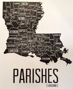 We are a Parish State. ♡