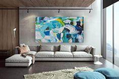 Wall Decor Abstract Painting Modern Room Decor Wall image 4 Blue Abstract Painting, Abstract Canvas Art, Acrylic Painting Canvas, Wall Canvas, Textured Canvas Art, Modern Room Decor, Office Wall Art, Large Wall Art, Etsy Shop