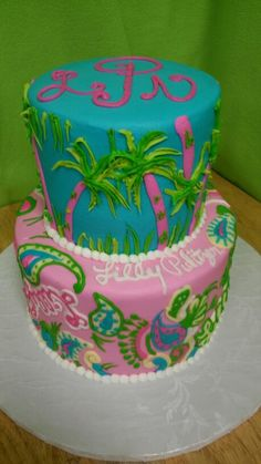 Lilly Pulitzer Inspired Party Ideas 40 birthday Cake and Birthdays