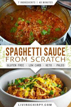 Gluten Free Spaghetti Sauce, Healthy Spaghetti Sauce, Low Sodium Spaghetti Sauce, Spaghetti Sauce From Scratch, Vegetarian Spaghetti, Spaghetti Recipes, Easy Homemade Spaghetti Sauce, Whole 30 Spaghetti Sauce, International Recipes