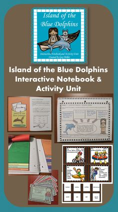 Island of the Blue Dolphins Notebook & Activity Unit contains graphic organizers for an interactive notebook and game activities covering vocabulary, constructive response writing, and skill practice. $