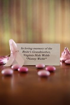 Breast Cancer In Memory Wedding Favor