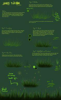 Grass tutorial by ~Sadir89 on deviantART