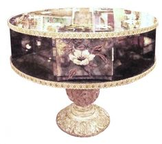 1950's Verre Eglomise Mirror Rotating Center or Coffee Table