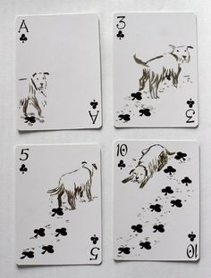 cute creative adorable playing cards