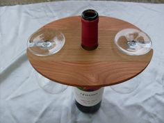 Over the bottle for two wine glass holder on Etsy, $20.00