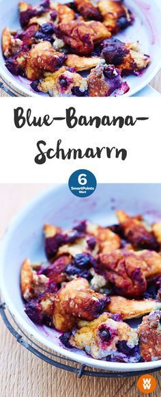 Blue-Banana-Schmarren | 6 SmartPoints/Portion, Weight Watchers, Desserts, in 20 min. fertig