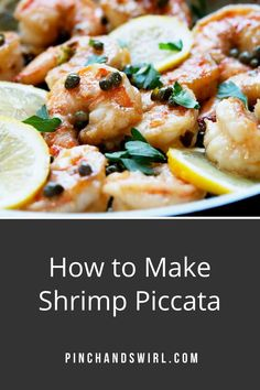 Shrimp Piccata is one of those easy, healthy recipes that's dinner party elegant and weeknight simple! Made with tender shrimp and fresh lemon all tossed in a creamy garlic butter and caper lemon sauce! Skip the cornstarch coating to make it keto diet friendly. Easy Summer Meals, Healthy Summer Recipes, Easy Dinner Recipes, Real Food Recipes, Great Recipes, Vegetarian Recipes, Italian Dishes, Italian Recipes