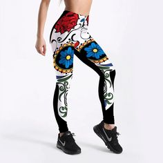 High Waist Calavera Leggings | Skullflow Skull Leggings, Cute Leggings, Plus Size Leggings, Xl Fashion, Fitness Fashion, Trendy Fashion, Fitness Style, Style Fashion, Fashion Mannequin