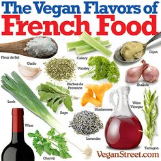 The Vegan Flavors of French Food ~ courtesy VeganStreet plantbased diet plantpowerz Vegan Foods, Vegan Dishes, Vegan Vegetarian, Vegetarian Recipes, Healthy Eating Recipes, Mexican Food Recipes, Cooking Recipes, Mexican Dishes, Cooking Tips