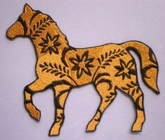 Large Embroidered Floral Horse Applique Iron On Patch, Horse Applique,  Western, Southwestern,