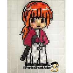 Rurouni Kenshin perler beads by  perlerbeadjake