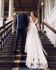 Wedding Day 50 Pretty Fall Wedding Dresses 2018 Ideas - Weddings in fall are very romantic. Picture it, the colors of fall set a great backdrop to your wedding. Simple Homecoming Dresses, Wedding Dresses 2018, Bridal Dresses, Sleeve Wedding Dresses, Long Sleeve Wedding, Dresses For Winter Wedding, Long Sleave Wedding Dress, Maxi Dresses, Fantasy Wedding Dresses