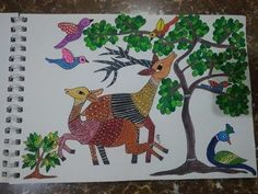 so here's a video of a Gond Art 🎨. Indian Tribal Art 🎨 Hope you like . Indian Arts And Crafts, Art Painting, Gond Painting, Tribal Art, Madhubani Art, Indian Folk Art, Folk Art Painting, Youtube Art, Artwork Painting